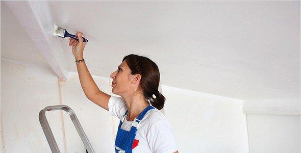 Грунтовка для потолка перед шпаклевкой: особенности и техника нанесения