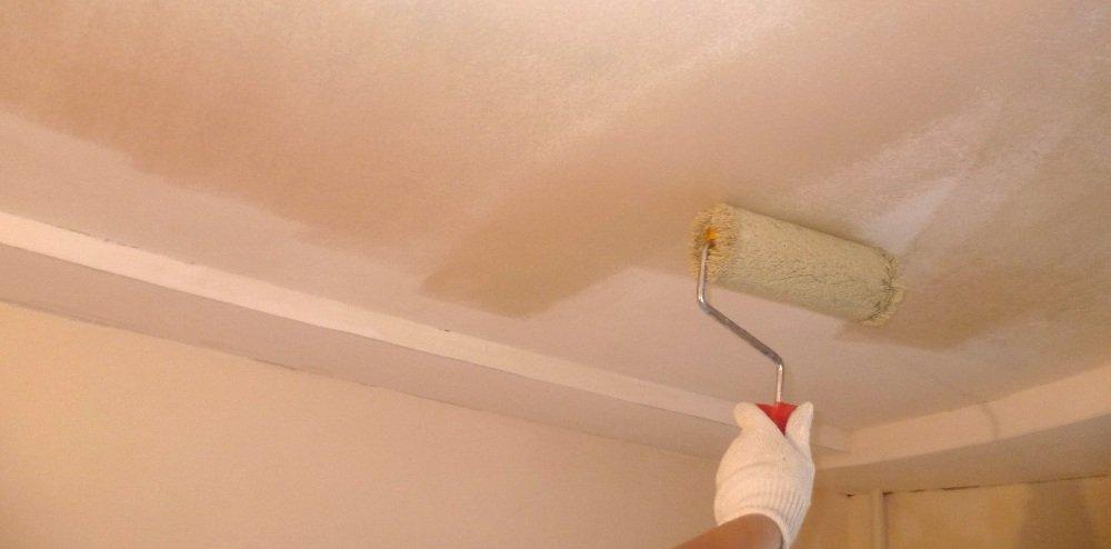 Грунтовка потолка под покраску - выбор материалов, этапы работ, советы